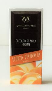 Chocolat de Modica à l'écorce d'orange 100 gr