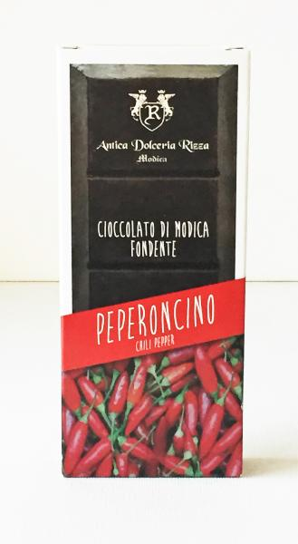 Chocolat de Modica au piment rouge 100 gr