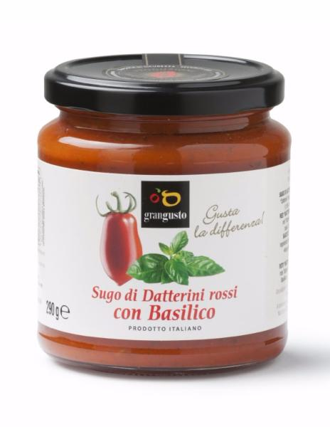 Sauce tomate rouge Datterino au basilic 290 gr